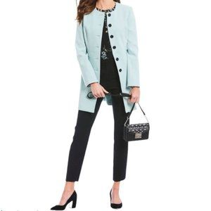 Karl Lagerfield Baby Blue Long Button-Front Jacket